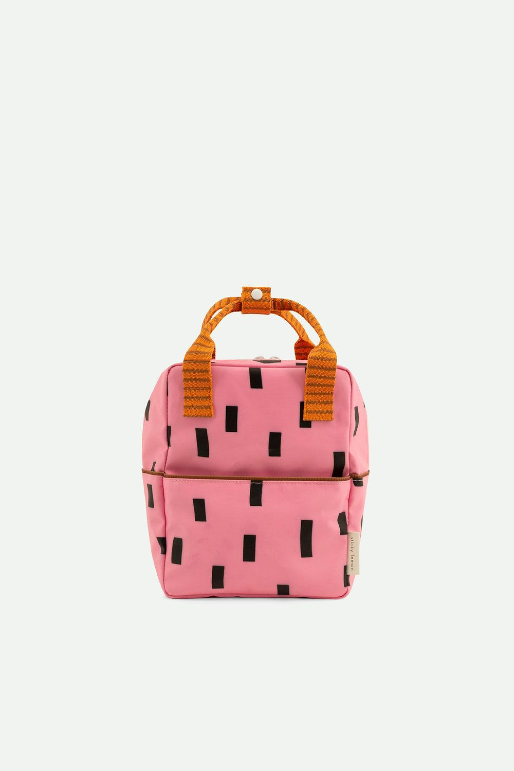 Sticky Lemon Backpack Small Sprinkles Bubbly Pink + Carrot Orange + Syrup Brown - in Schooltassen