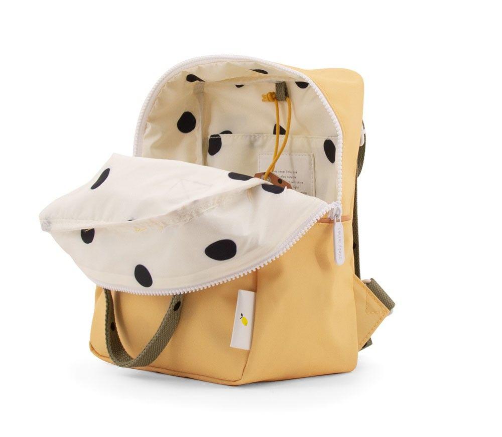 Sticky Lemon Backpack Small Freckles retro yellow + seventies green + faded orange - in Schooltassen