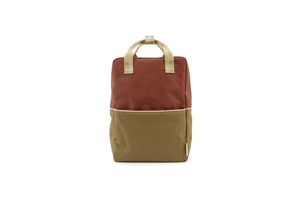 Sticky Lemon Backpack Colour Blocking Fig Brown - Apple Tree - Vanilla Sorbet - in Schooltassen