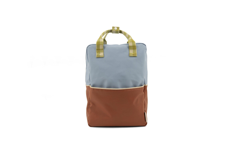 Sticky Lemon Backpack Colour Blocking Blueberry - Willow Brown - Pear Green - in Schooltassen