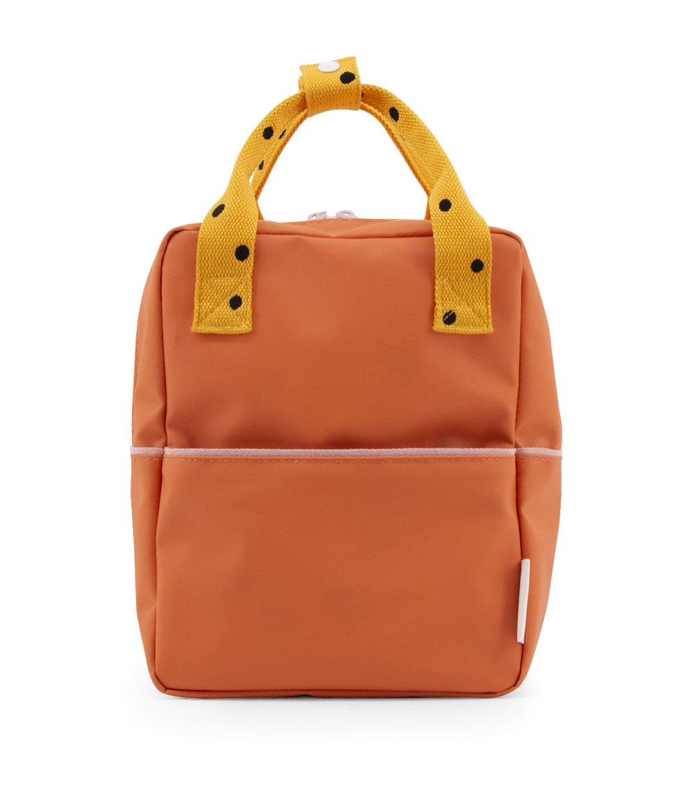 Sticky Lemon Backpack Small Freckles carrot orange + sunny yellow + candy pink - in Schooltassen