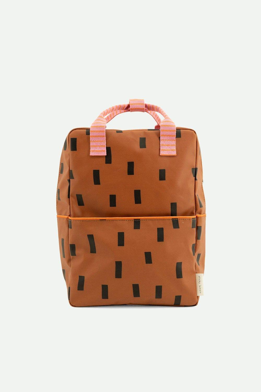 Sticky Lemon Backpack Large Sprinkles Syrup Brown + Bubbly Pink + Carrot Orange - in Schooltassen