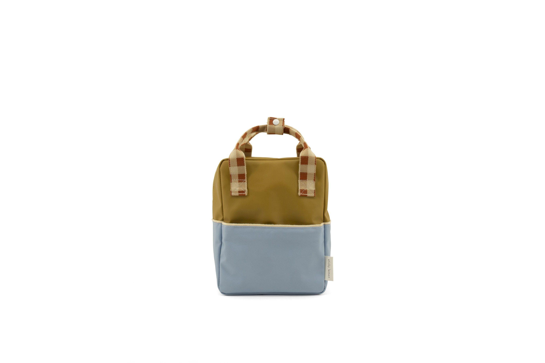 Sticky Lemon Backpack Colourblocking Blueberry - Willow Brown - Pear Green - in Schooltassen