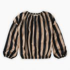 Sproet & Sprout Blouse Painted Stripe Sesame_1