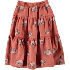 Piupiuchick Long Tiered Skirt Light Coral_1