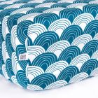 Swedish Linens Rainbows Fitted crib sheet Moroccan blue