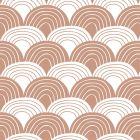 Swedish Linens Rainbows Bed Sheet Terracotta Pink
