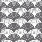 Swedish Linens Rainbows Bed Sheet Graphite Gray