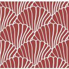 Swedish Linens Seashells Bed Sheet Burgundy