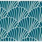 Swedish Linens Seashells Bed Sheet Moroccan blue_1