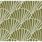 Swedish Linens Seashells Bed Sheet Olive Green_1