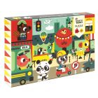 Petit Monkey In the city puzzle 48 pcs