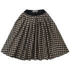 Mingo Midi Skirt Flannel Checked Caramel / Black_1
