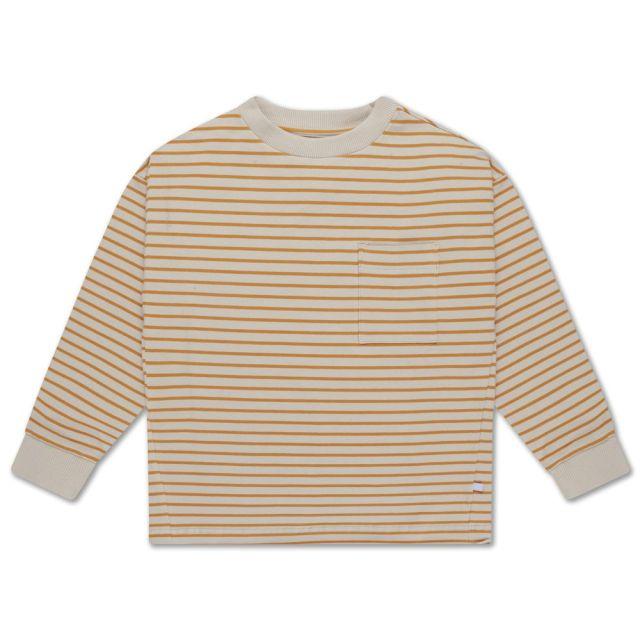 Repose AMS sweat tee butterscotch stripe