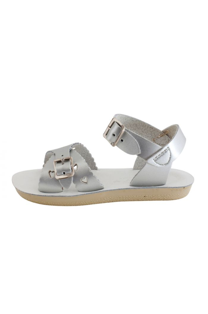 Salt-Water Sandals Sweetheart Silver