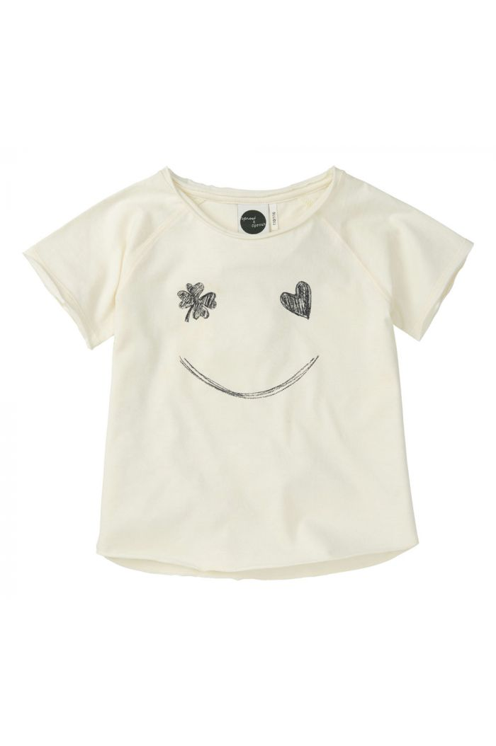 Sproet & Sprout Raglan T-shirt Smile summer white