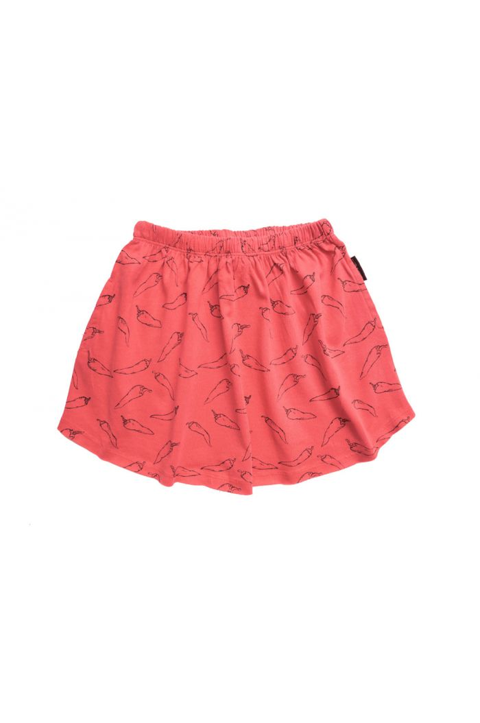Sproet & Sprout Skirt Hot Pepper All-over Print red pepper