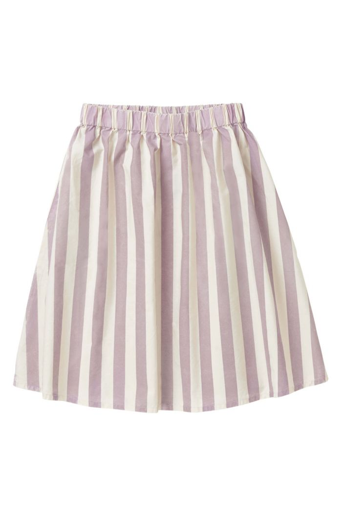 Sproet & Sprout Long skirt Stripe shell & dusty violet