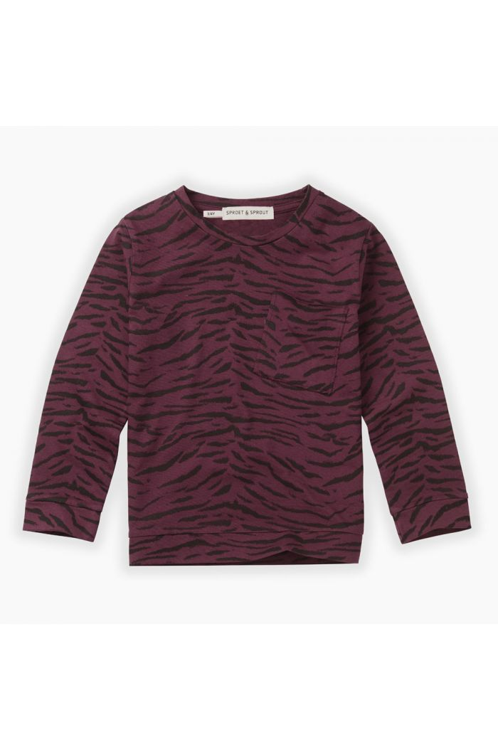Sproet & Sprout Longsleeve Tiger All-over print Burgundy