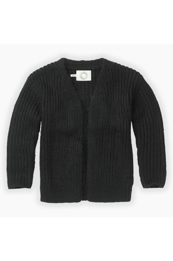 Sproet & Sprout Cardigan panther head Black