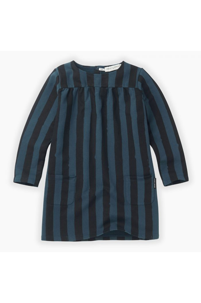 Sproet & Sprout Sweat dress Painted stripe Moonlight