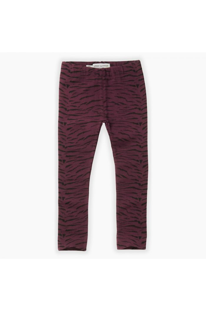 Sproet & Sprout Sweat legging Tiger All-over print Burgundy