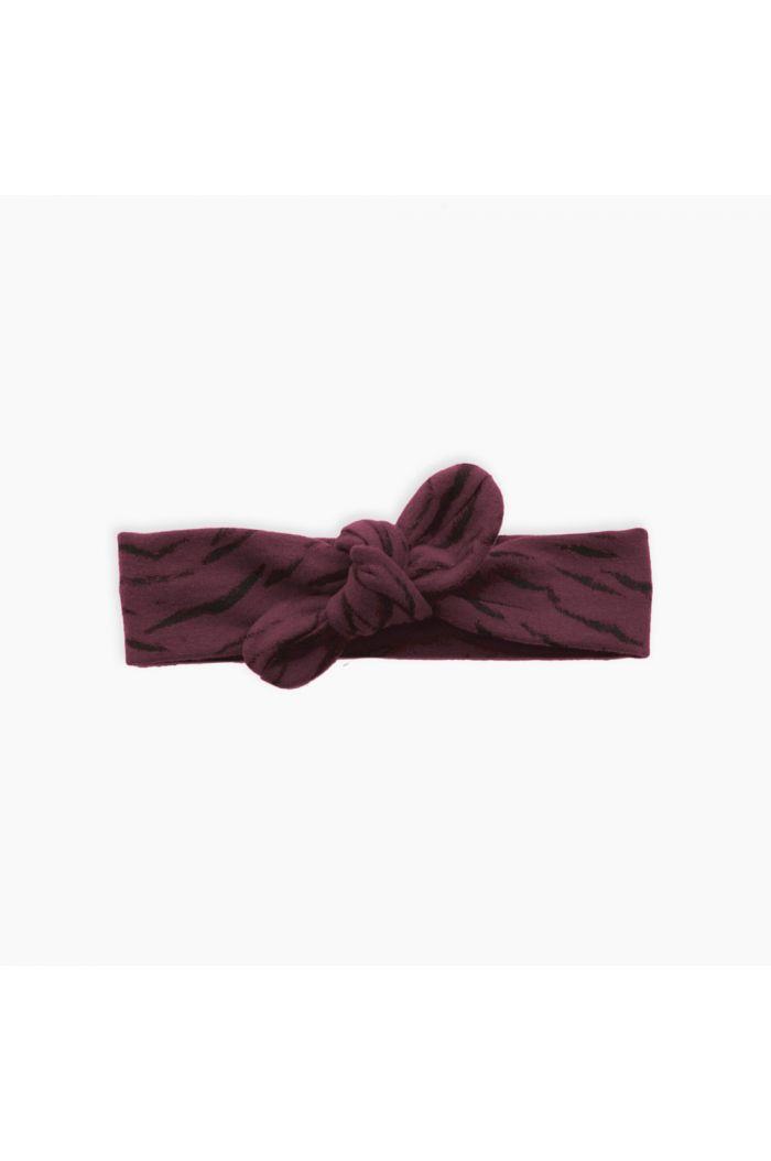 Sproet & Sprout Headband Tiger All-over print Burgundy