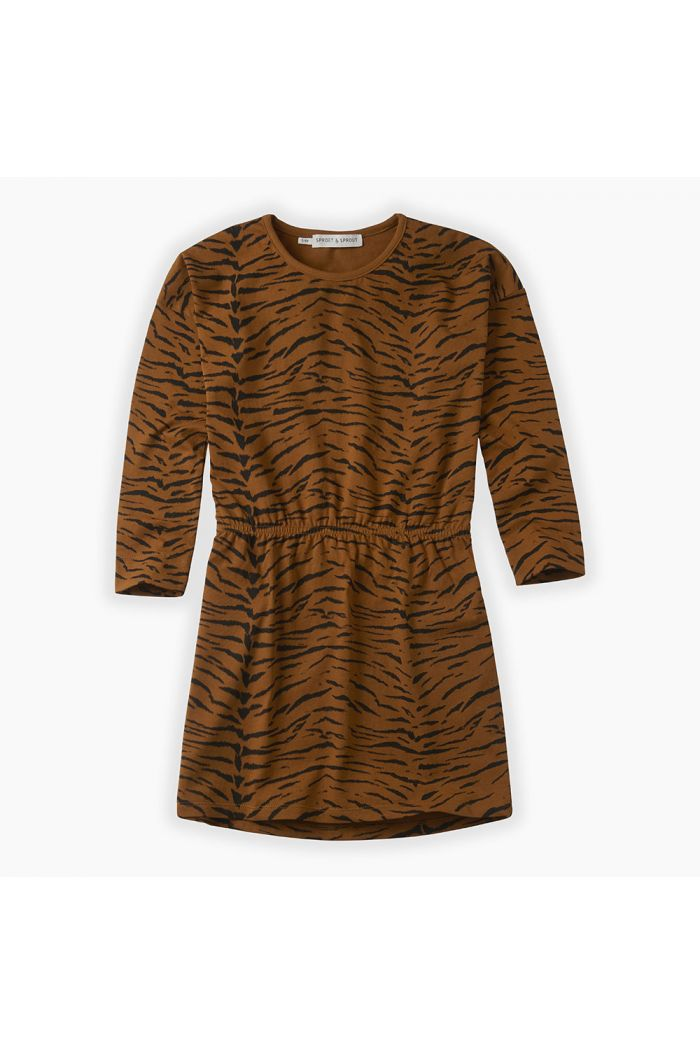 Sproet & Sprout Dress print Tiger Caramel