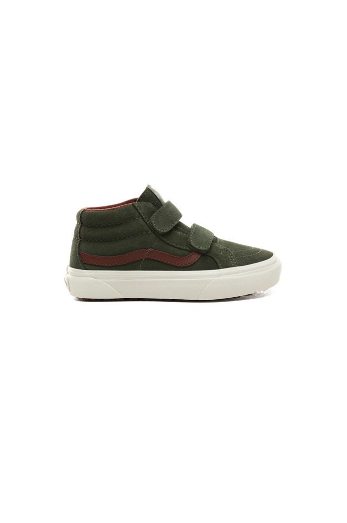 Vans Youth SK8-Mid Reissue Velcro (MTE) Deep lichen green / Red Stripe