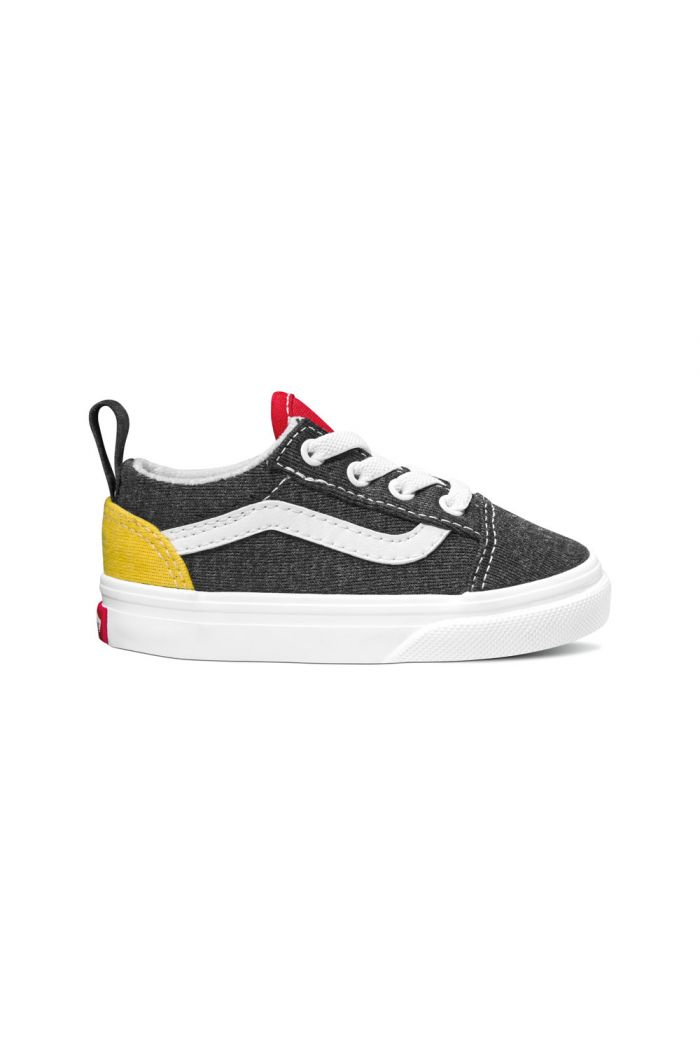 Vans Toddler Old Skool Elastic Lace (Vans Coastal) Black/True White