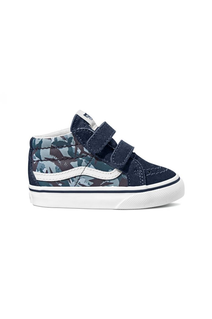Vans Toddler SK8-Mid Reissue V (Animal Camo) Blue Camo Print