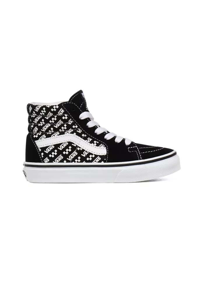 Vans Youth SK8-Hi (Logo Repeat) Black/True White