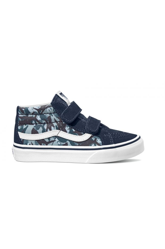 Vans Youth SK8-Mid Reissue V (Animal Camo) Blue Camo Print