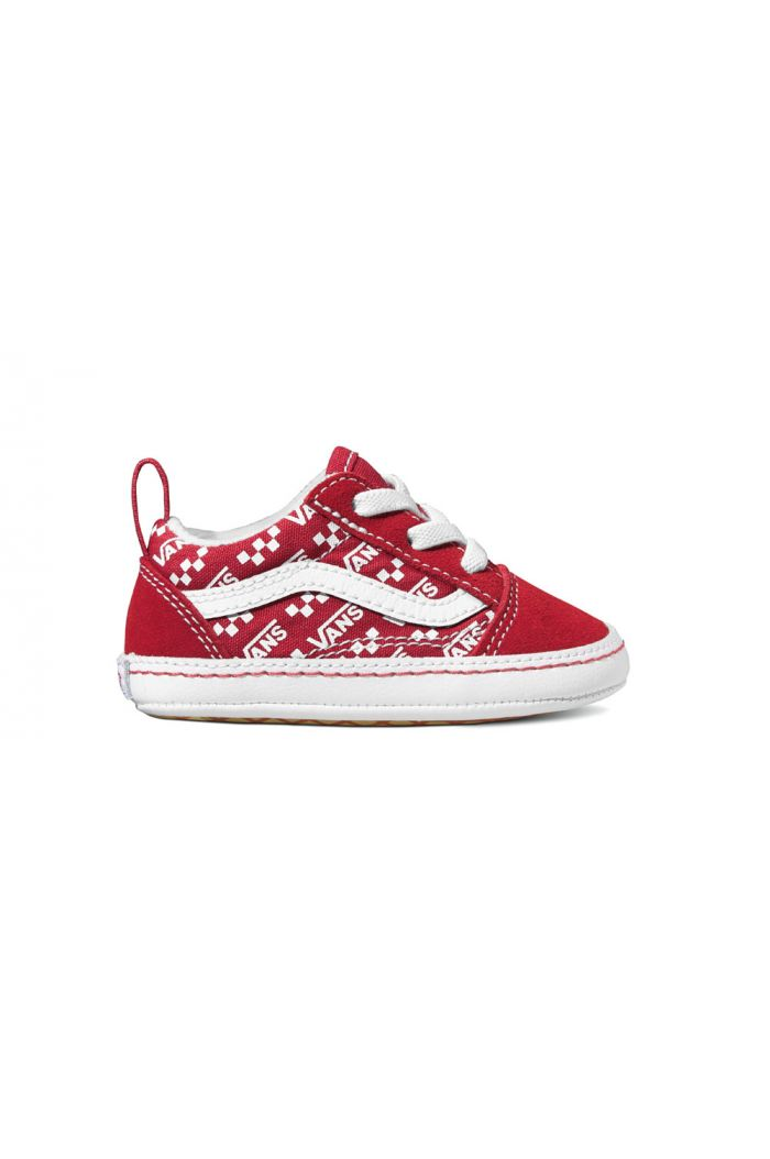 Vans Infant Old Skool Crib (Logo Repeat) Red/True White