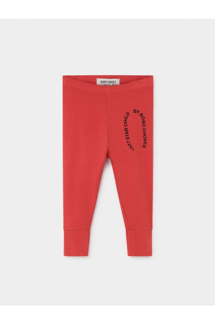 Bobo Choses Starchild Patch Red Leggings Sun Dried Tomato
