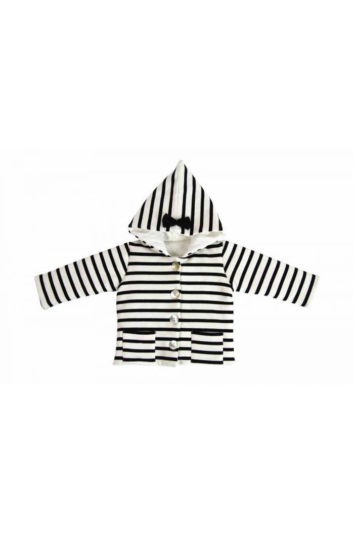 House Of Jamie Bow Tie Hooded Jacket Breton