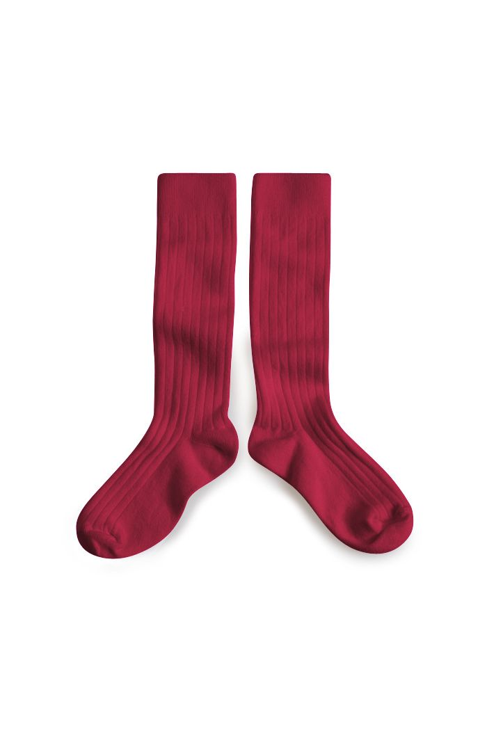 Collegien Knee High Socks Marsala