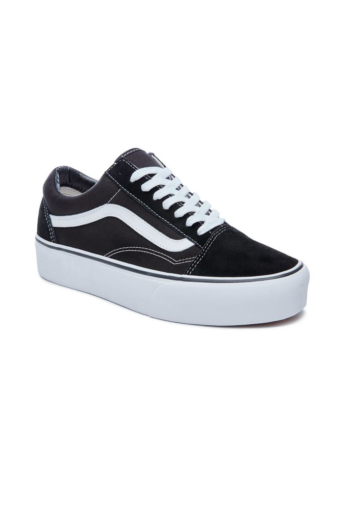 Vans Youth Old Skool Platform Black/True White