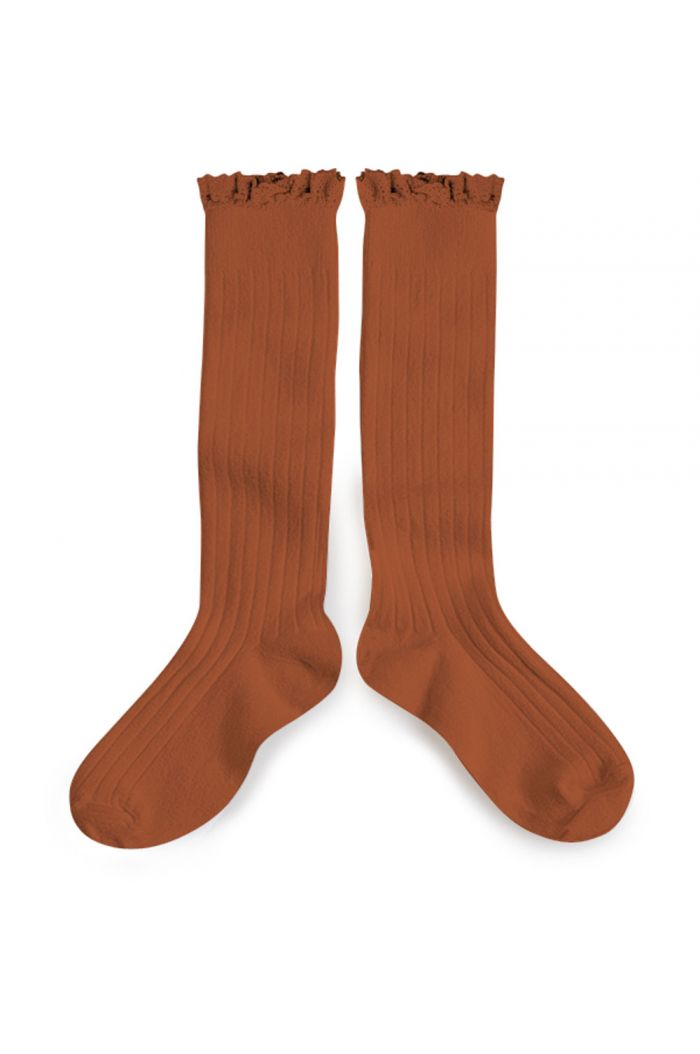 Collegien high socks with lace Pain D Epice