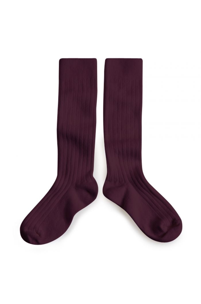Collegien Knee High Socks Aubergine