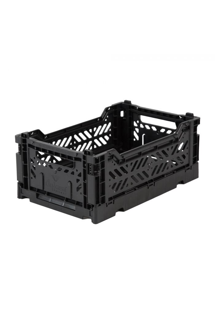 Ay-Kasa Folding Crates Black