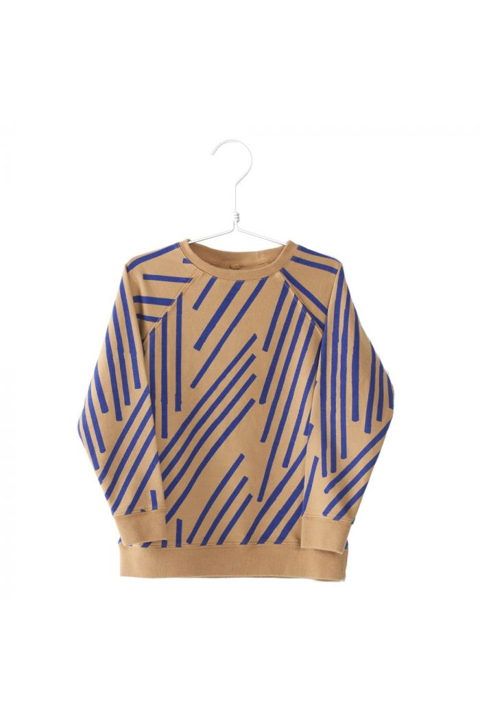 Lotiekids Sweat Shirt Stripes Camel