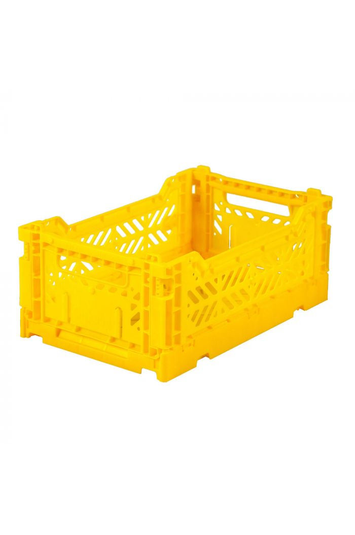 Ay-Kasa Folding Crates Yellow