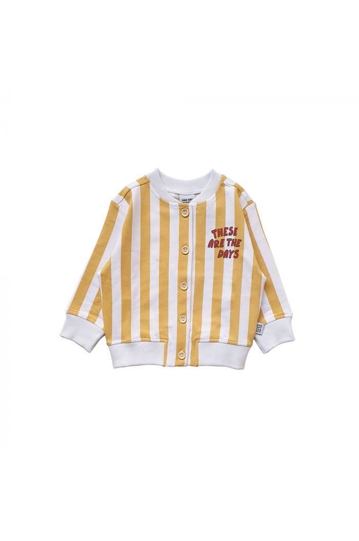 One Day Parade Cardigan Yellow Stripe