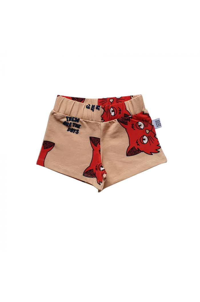One Day Parade Shorts Brown Cat All-over Print