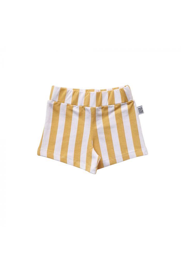 One Day Parade Shorts Yellow Stripe