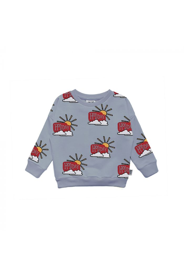 One Day Parade Sweater Blue Holiday All-over Print