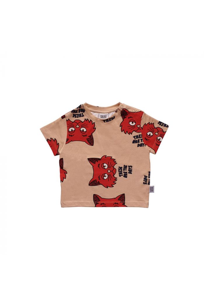 One Day Parade T-shirt Brown Cat All-over Print
