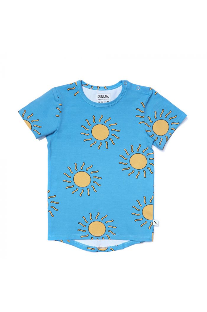 CarlijnQ t-shirt short sleeve drop back big sun