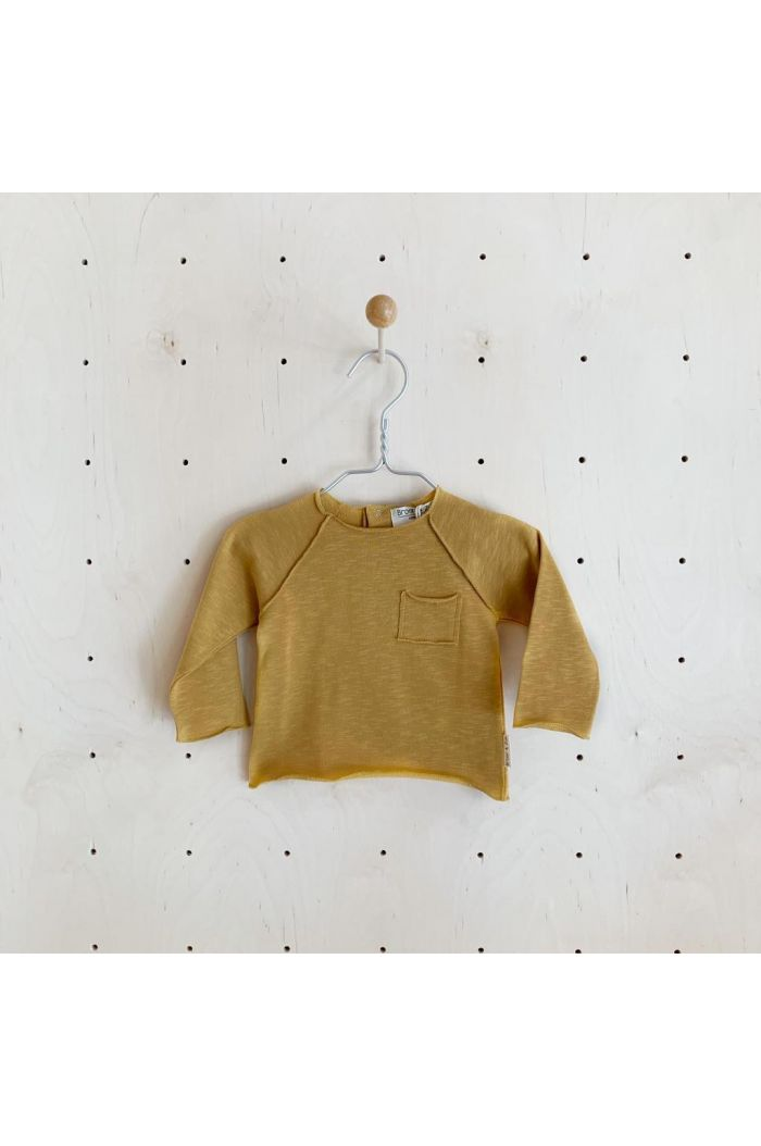 Broer & Zus Sweater Pocket Mustard